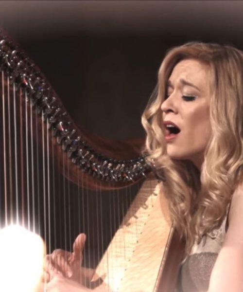 Weihnachtslied-harfe-gesang